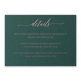 Hunter Brilliance - Rose Gold - Foil Reception Card