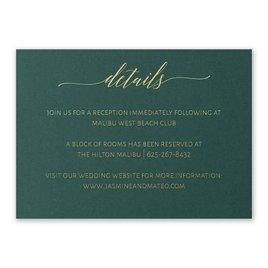 Wedding Reception Cards: Hunter Brilliance - Foil Reception Card