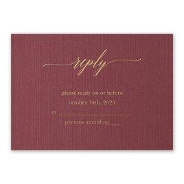 Burgundy Brilliance - Gold - Foil Response Card