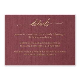 Wedding Reception Cards: Burgundy Brilliance - Foil Reception Card