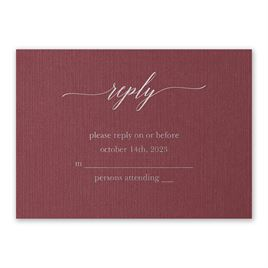 Burgundy Brilliance - Silver - Foil Response Card