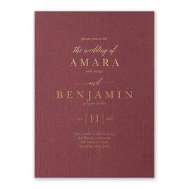 Wedding Invitations: Burgundy Brilliance - Foil Invitation