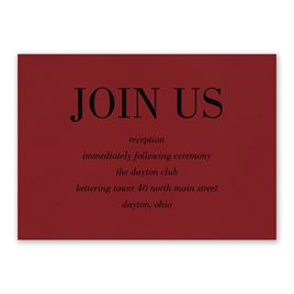 Red Romance - Reception Card