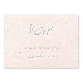 Blush Beauty - Silver - Foil Response Card