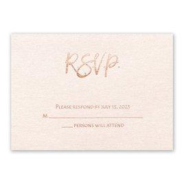 Wedding Response Cards: Blush Beauty Foil Response Card