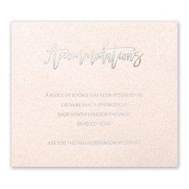 Blush Beauty - Silver - Foil Information Card