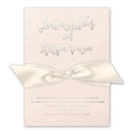 Blush Beauty - Silver - Foil Invitation