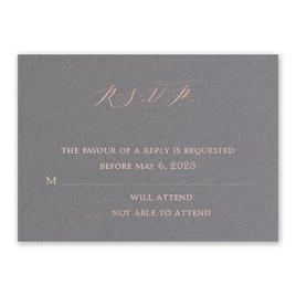 Wedding Response Cards: Love Story Foil Response Card