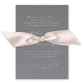 Love Story - Silver - Foil Invitation
