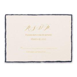 Wedding Response Cards: Delicate Deckle Foil Response Card