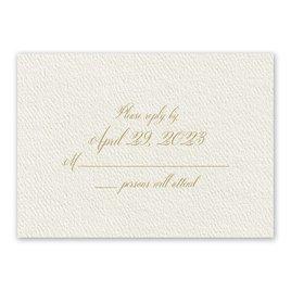 Wedding Response Cards: Wedded Bliss Ecru Response Card