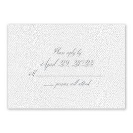Wedding Response Cards: Wedded Bliss White Response Card