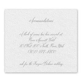 Wedded Bliss - White - Information Card