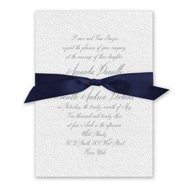 Wedded Bliss - Navy - White Invitation
