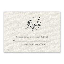 Wedding Response Cards: Fresh Angle Ecru Response Card