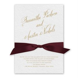 Fresh Angle - Burgundy - White Invitation