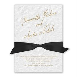 Fresh Angle - Black - White Invitation