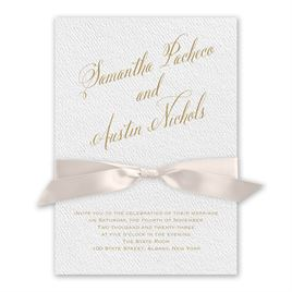 Fresh Angle - Blush - White Invitation