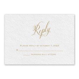 Wedding Response Cards: Fresh Angle White Response Card