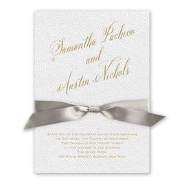 Fresh Angle - Greige - White Invitation