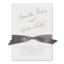 Fresh Angle - Mushroom - White Invitation