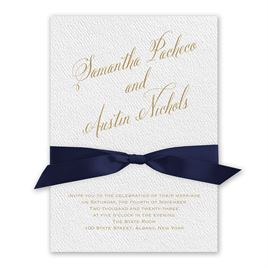 Fresh Angle - Navy - White Invitation