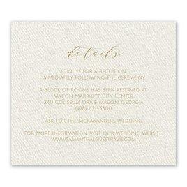 Modern Elegance - Ecru - Information Card