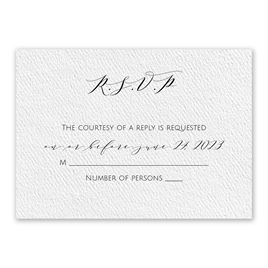 Wedding Response Cards: Modern Elegance White Response Card