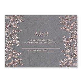 Botanical Brilliance - Rose Gold - Foil Response Card