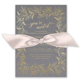 Botanical Brilliance - Gold - Foil Invitation