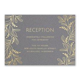 Botanical Brilliance - Gold - Foil Reception Card