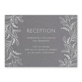 Botanical Brilliance - Silver- Foil Reception Card