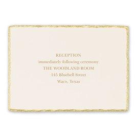 Adorned Deckle - Reception Card