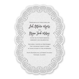 Country Wedding Invitations: Sweet Scallops Laser Cut Invitation