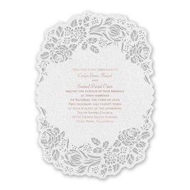 Wedding Invitations: Blooming Beauty - Laser Cut Invitation