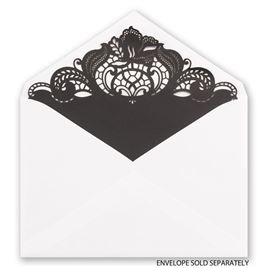 Black Filigree - Laser Cut Envelope Liner