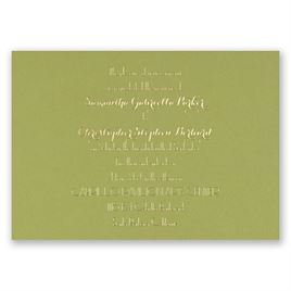 Effortless Beauty - Olive - Foil Invitation