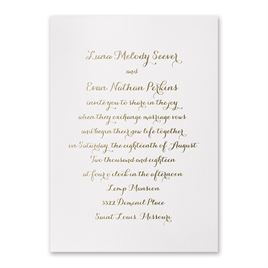Simply Stunning - White Shimmer - Foil Invitation