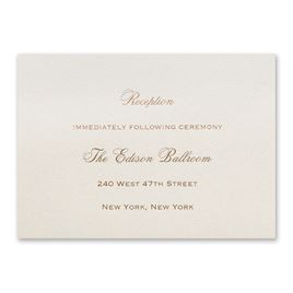 Ecru Shimmer - Foil Reception Card