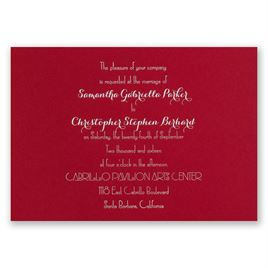 Effortless Beauty - Red - Foil Invitation