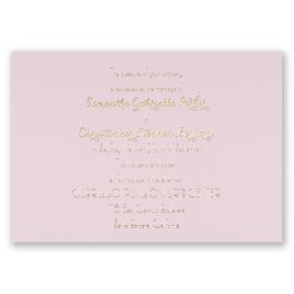 Effortless Beauty - Pink - Foil Invitation