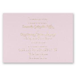 Effortless Beauty - Pink - Foil Invitation
