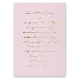 Simply Stunning - Pink - Foil Invitation