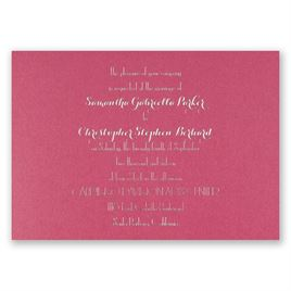 Effortless Beauty - Fuchsia Shimmer - Foil Invitation