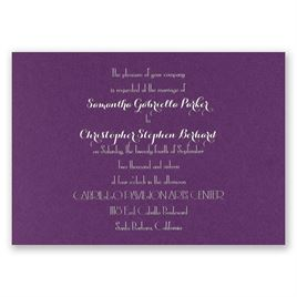 Effortless Beauty - Purple Shimmer - Foil Invitation