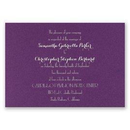 Effortless Beauty - Purple Shimmer - Foil Invitation