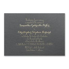 Effortless Beauty - Black Shimmer - Foil Invitation
