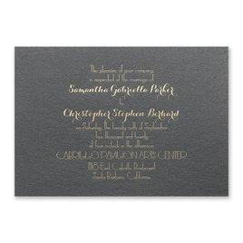 Effortless Beauty - Black Shimmer - Foil Invitation