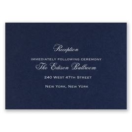Navy - Foil Reception Card