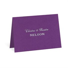 Purple Shimmer - Note Card and Envelope